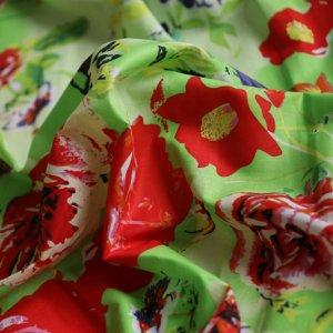 Bold Rose on green (Yarn dye) (preorder sep 2020)