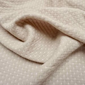 Washed cotton with knitted dot cream -xg.NDC