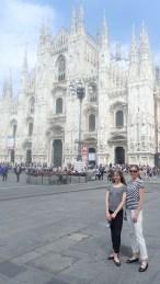 På plats i Milano