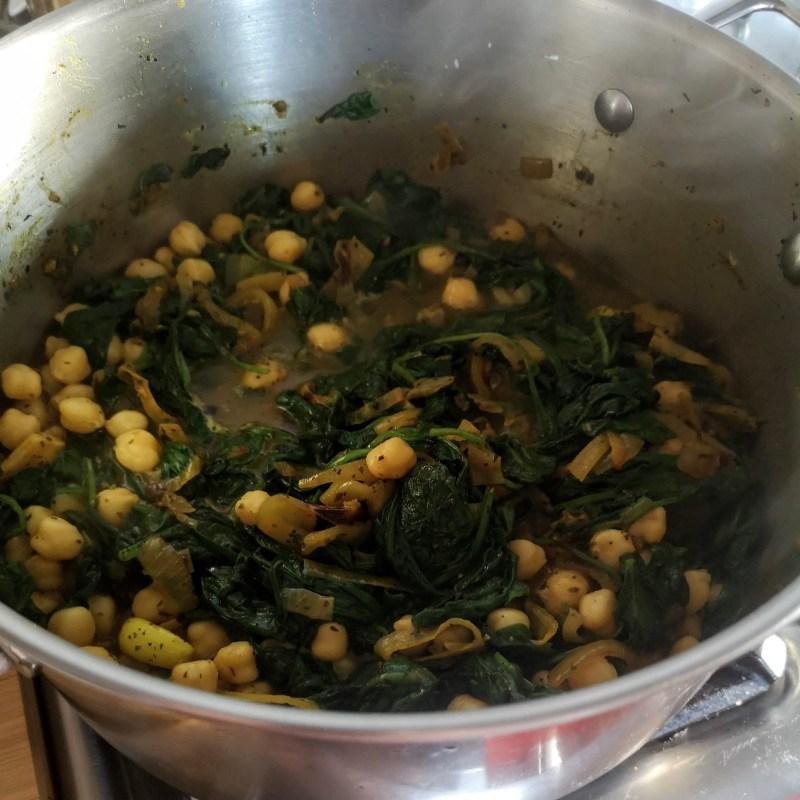 Chickpea, paneer, spinach & preserved lemon stew | Sabrina Ghayour (Bazaar: Vibrant Vegetarian Recipes)