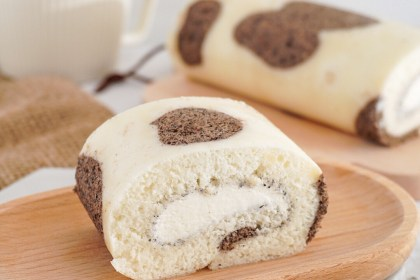 cow pattern angel cake roll