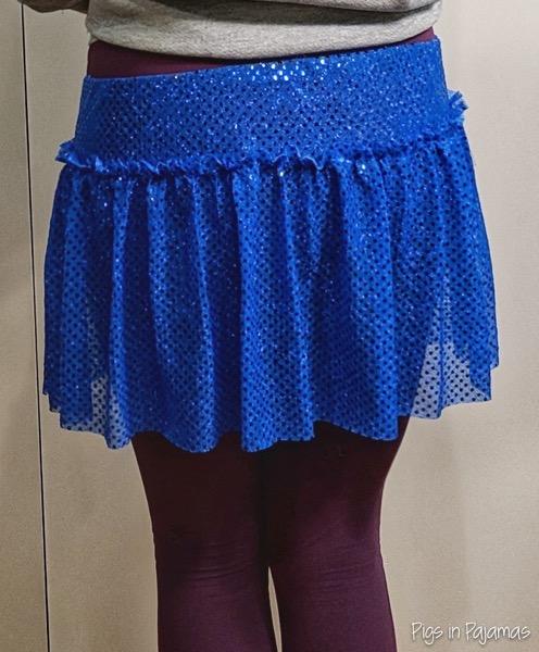 BlueGlitterDotRunningSkirt 2