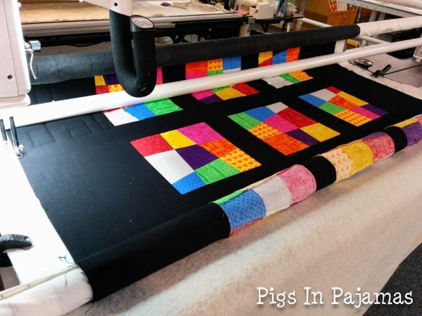 Longarm quilting crazy 9 patch quilt 17450181283 o