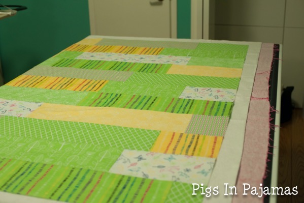 Baby quilt on backing 12898170925 o