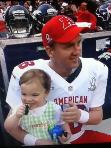 Peyton Manning and his son, Marshall