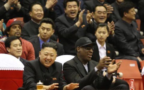 Dennis Rodman and Kim Jung Un  (Photo: Associated Press)
