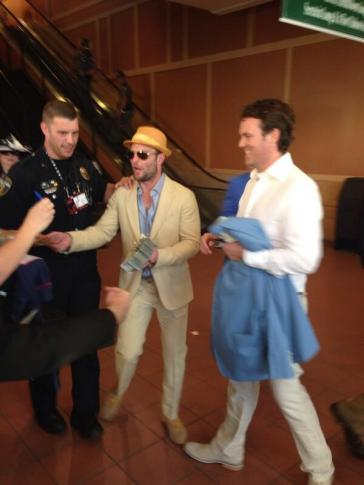 Broncos WR Wes Welker at the Kentucky Derby in May