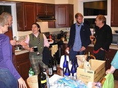 10 bottles of Momo kawa Sake for the after party… and a bunch of Scrumpy Cider (Photo © Kim Goldberg)