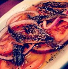 Tomato, Onion, Anchovy Salad (Brad Pitt's)