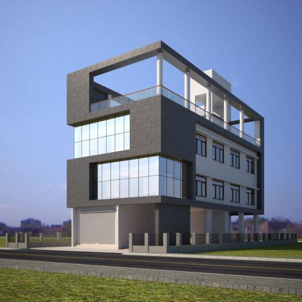 PIHPL office Front Elevation 3D