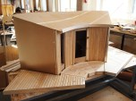 1:5 model of piiri house to understand exterior cladding coming together with the terrace planks and whole project.