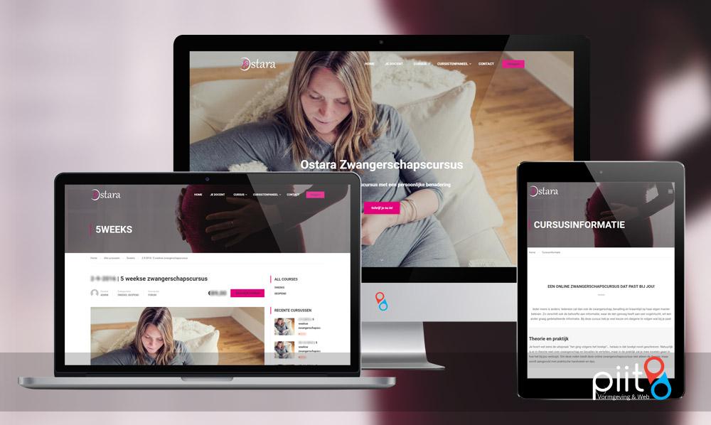 Website met online leermodule / cursusoptie