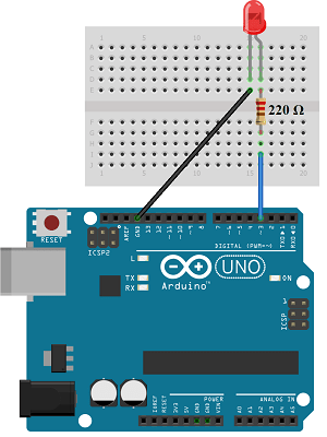 Circuit diagram Arduino led connection for PWM