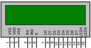 lcd 16x2 pinout