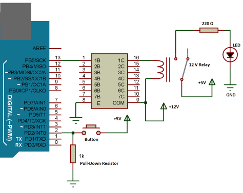 INTERFACING OF RELAY WITH ARDUINO USING ULN2003