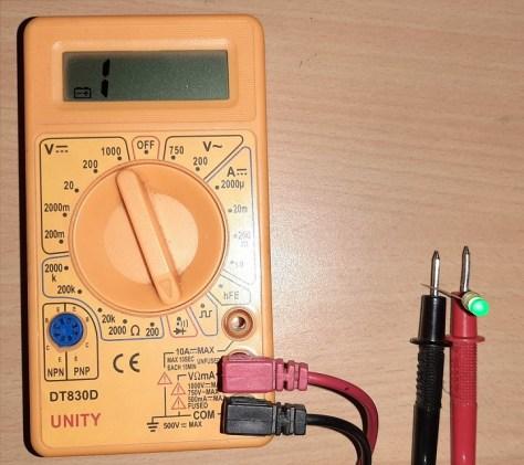 Multimeter LED detection