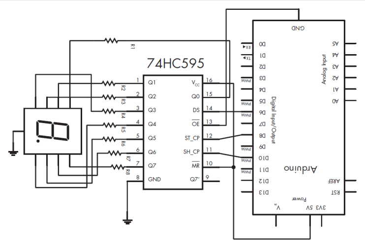 HOW TO USE 7 SEGMENT USING SHIFT REGISTER
