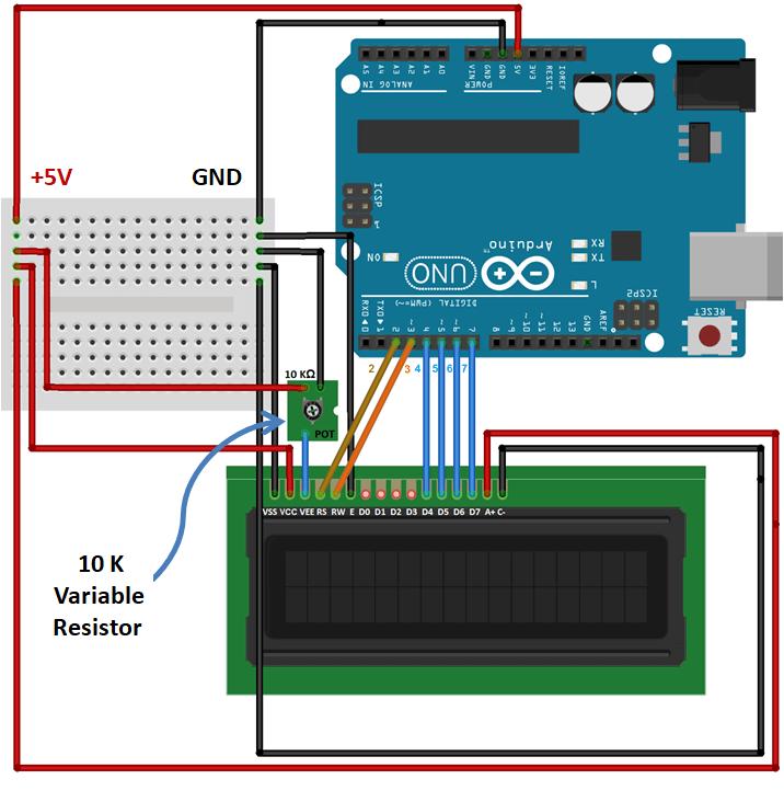 PRINT ASCII CHARACTERS ON LCD 16X2 USING ARDUINO