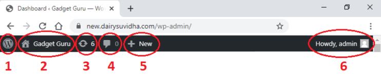 home page top menu cms
