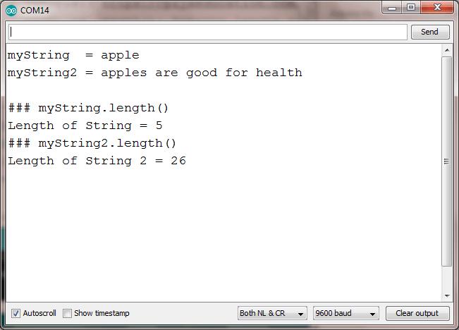 string length arduino