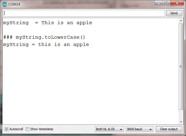 string toLowerCase arduino