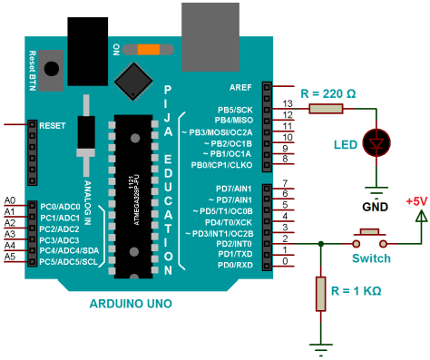 Interfacing of Switch as Input with Arduino