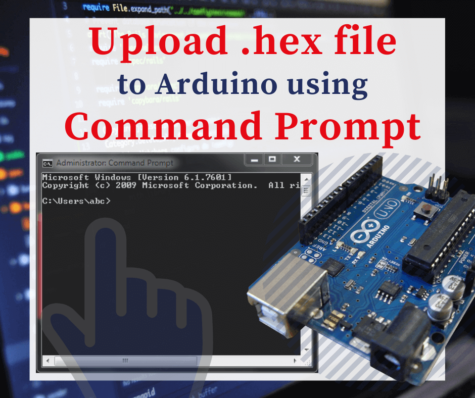 upload hex file to arduino