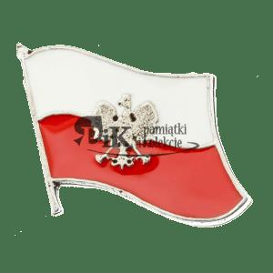 Przypinka miniatura polskiej flagi