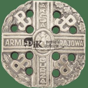 Przypinka z odznaką Armii Krajowej