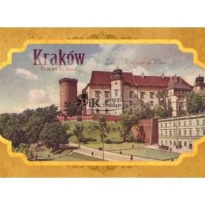 Pocztówka XIX wieczny widok Wawelu