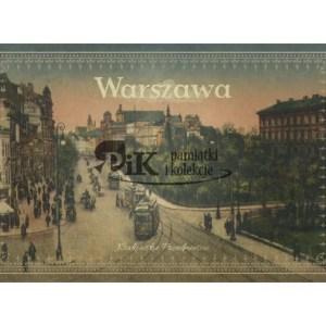 Pocztówka Krakowskie Przedmieście w Warszawie z pierwszej połowy XX wieku