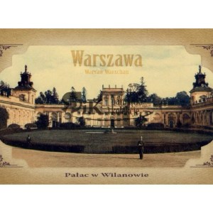 Pocztówka Pałac w Wilanowie z połowy XIX wieku
