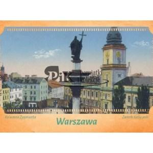 Pocztówka Plac Zamkowy i Kolumnę Zygmunta w Warszawie z XIX i XX wieku