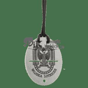 Nieśmiertelnik z orłem wojskowym z 1931 roku z orłem wojsk lotniczych