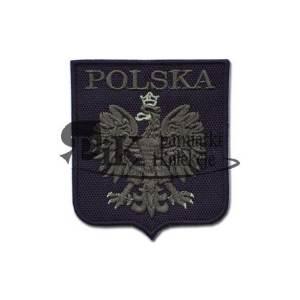 Naszywka Godło Polski stylizowane - czarna