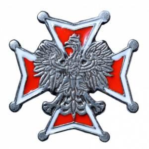 Krzyż kawalerskibiało-czerwonyz orłem