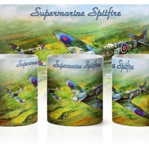 Kubek poświęcony Supermarine Spitfire myśliwiec RAF