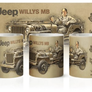 Kubek poświęcony Jeep Willys MB