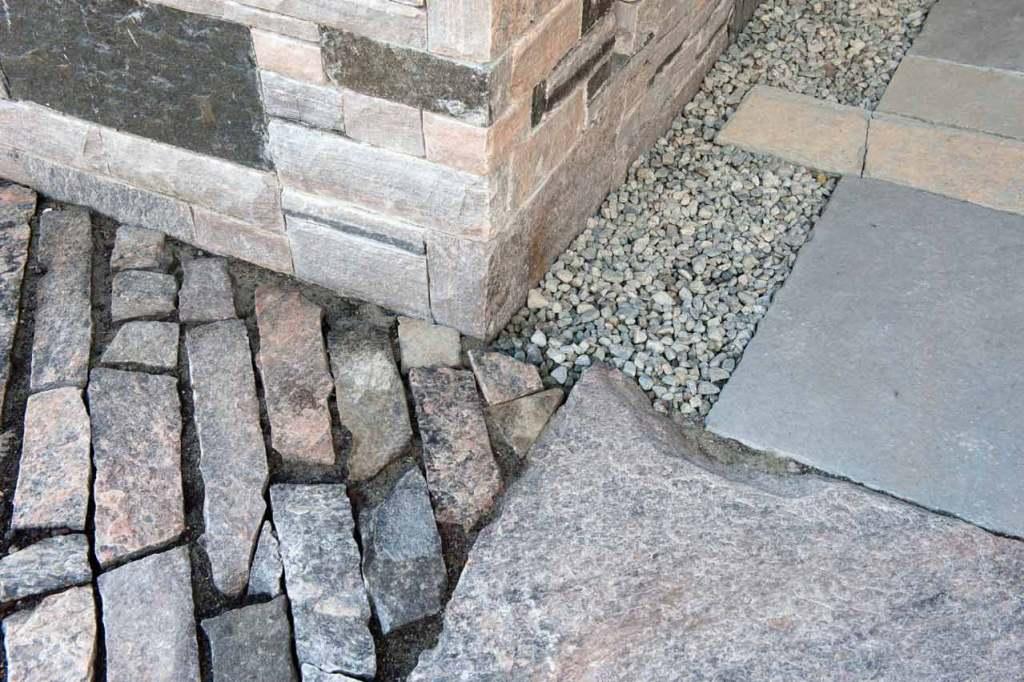 Stone pathway detail