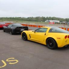 Several Corvettes
