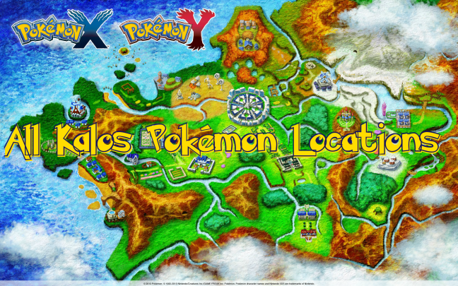 All Kalos Pokémon Locations