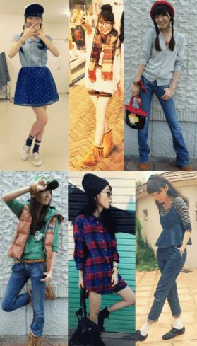 飯豊まりえの私服のコーディネート写真を並べた画像11