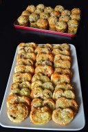 palmiers and savoury muffins