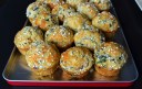 smoked bacon, green onion and three cheeses muffins