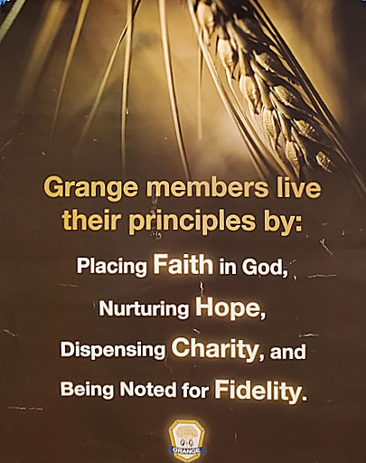 Grange Principles of Faith, Hope, Charity, and Fidelity