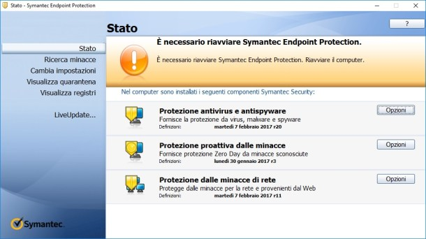 Symantec Endpoint Protection v12.1.7166.6700 - Ita