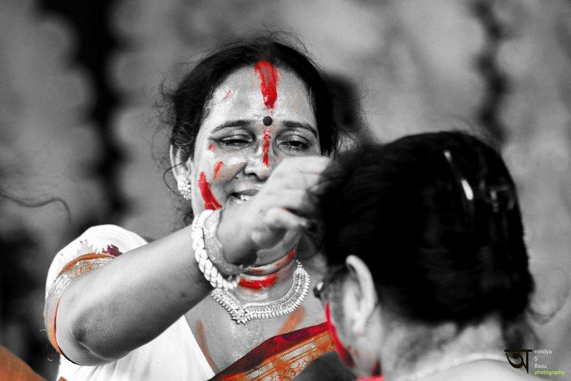 Sindoor Khela at Kolkata Durga Puja 2014 8