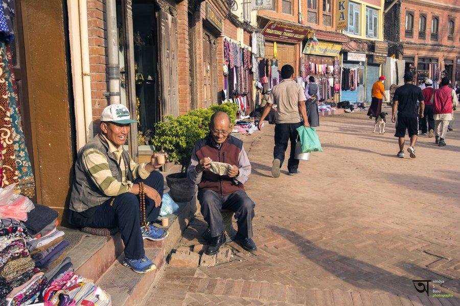 Morning tea Boudhanath Kathmandu
