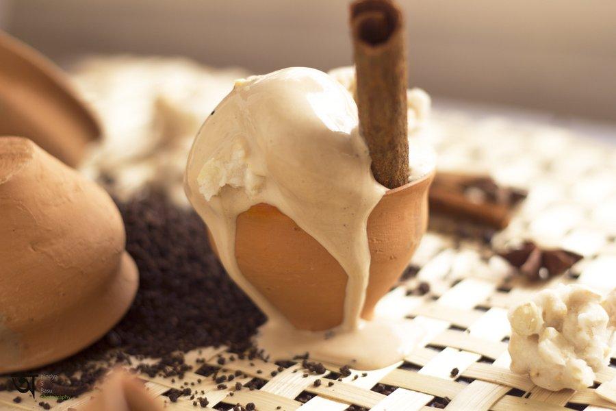Melting Masala tea ice cream