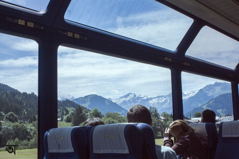 View from Golden pass Train to Montreux